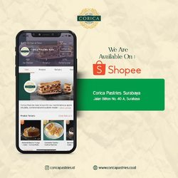 Your favorite pastries is just a click away! Find @coricapastries.id on Shopee for an easy and fast order. 🥳