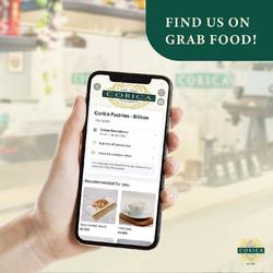 We are now available on Grab Food! 🥳 Sit back and order @coricapastries.id from your home now! ✨