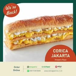 Dear Corica Lovers, We are back!🥳  We are happy to announce you that our Jakarta store is finally open! We really hope you enjoy our selection menu.  We are available for deliveries at GoFood, GrabFood, Tokopedia and website. We are located for pick-up point in Jalan Ampera Raya area, Jakarta Selatan.  Thank you and looking forward to receiving your order. 🤗  For more information, please visit our IG (@coricapastries.id) or website at www.coricapastries.co.id